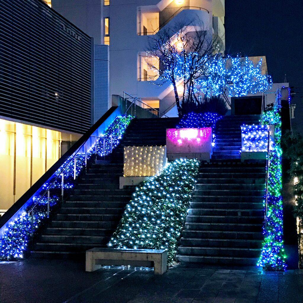丘の上まちづくりカンパニーイルミネーション飯田信用金庫