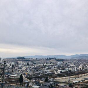 飯田丘の上から朝の景色